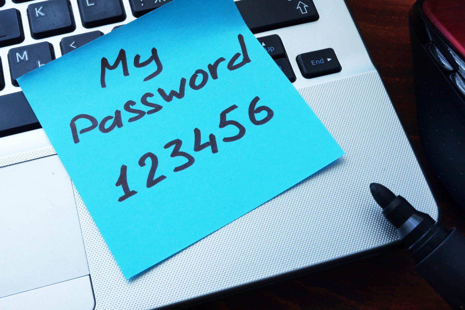 簡単なパスワード